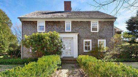 The house has an English perennial garden and