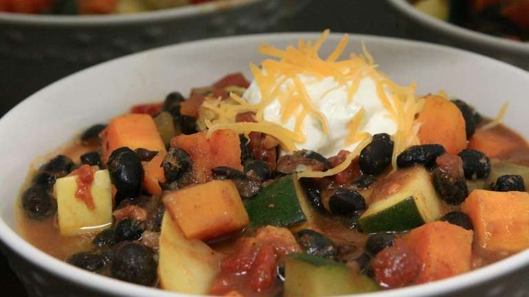 This black bean and sweet potato stew will