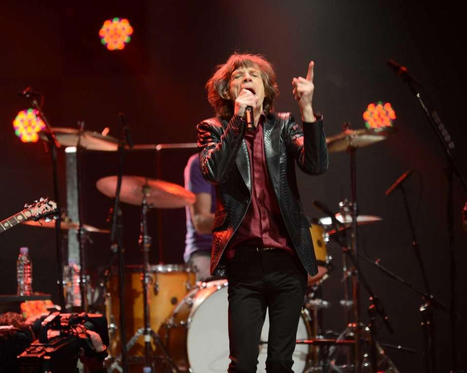 Mick Jagger of the Rolling Stones performs during