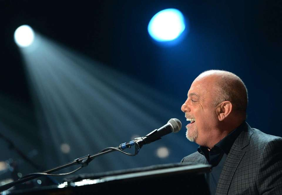 Billy Joel performs at the 12-12-12 concert benefiting