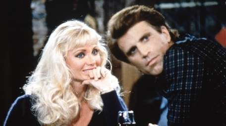 "Angela Aames and Ted Danson on the ""Sam's"