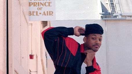 Will Smith poses on the set of