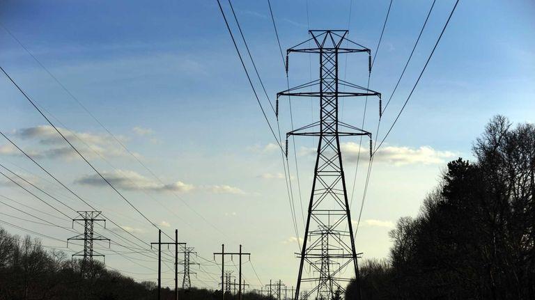 Power lines in Centereach. (Dec. 11, 2012)