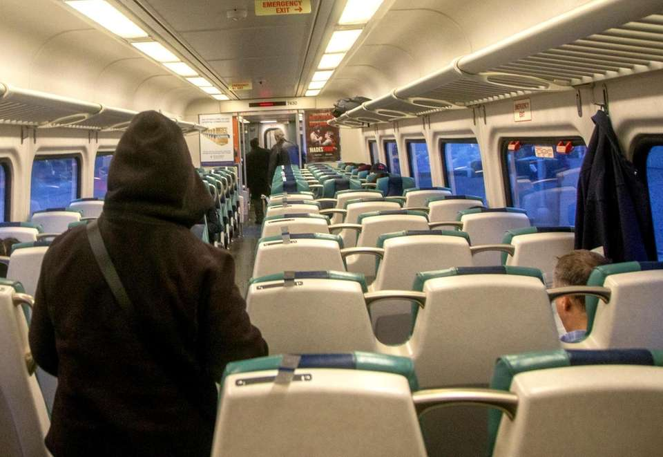 Light commuter turnout on this westbound LIRR train