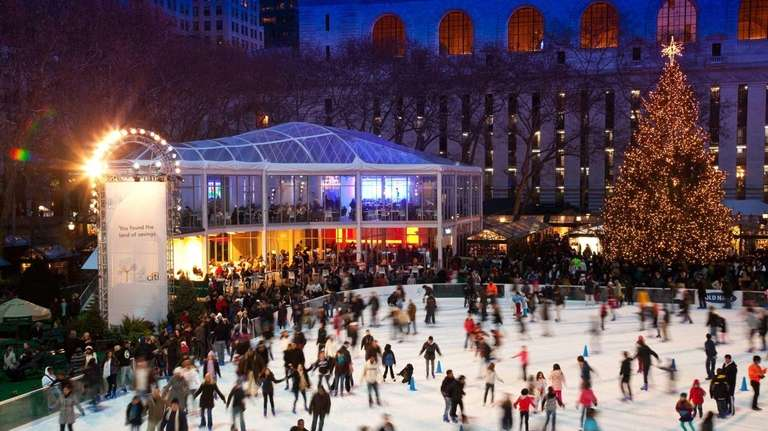 The Holiday Shops at Bryant Park set the