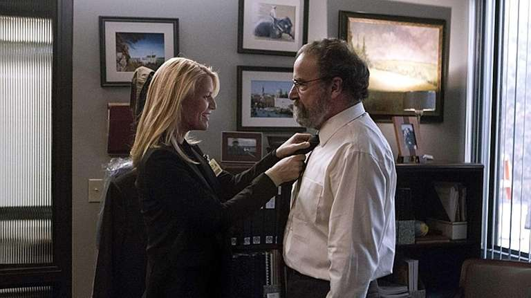 Claire Danes as Carrie Mathison and Mandy Patinkin