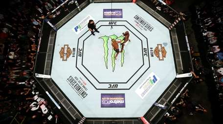 An overhead view of the Octagon as Jon