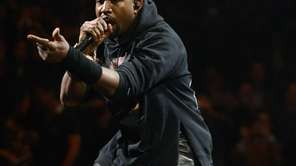 Kanye West performs at the 12-12-12 concert benefiting