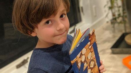 Lo'am Lapidus, 7, of Setauket made a sketchbook