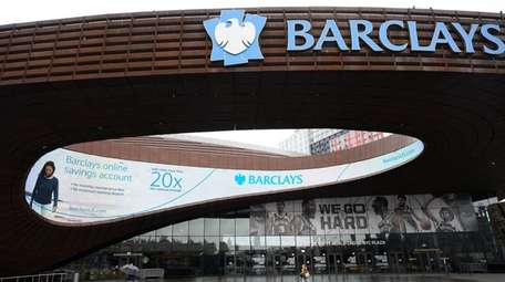 A shuttered Barclays Center in downtown Brooklyn on
