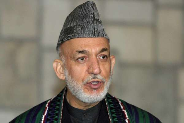 Afghanistan President Hamid Karzai speaks during a joint