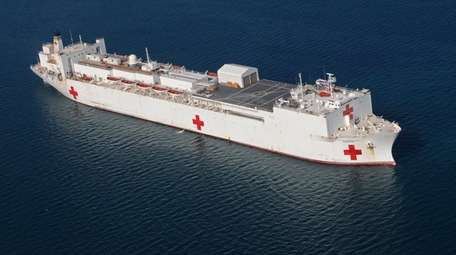 The USNS Comfort, seen in January, will be