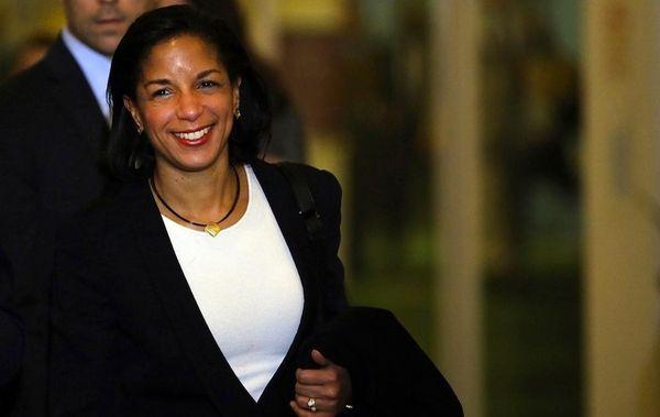 U.N. Ambassador Susan Rice leaves following a General