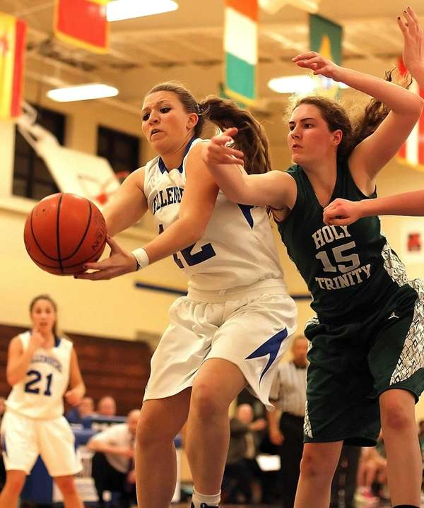 Kellenberg's Amanda Crimarco gets control of the ball