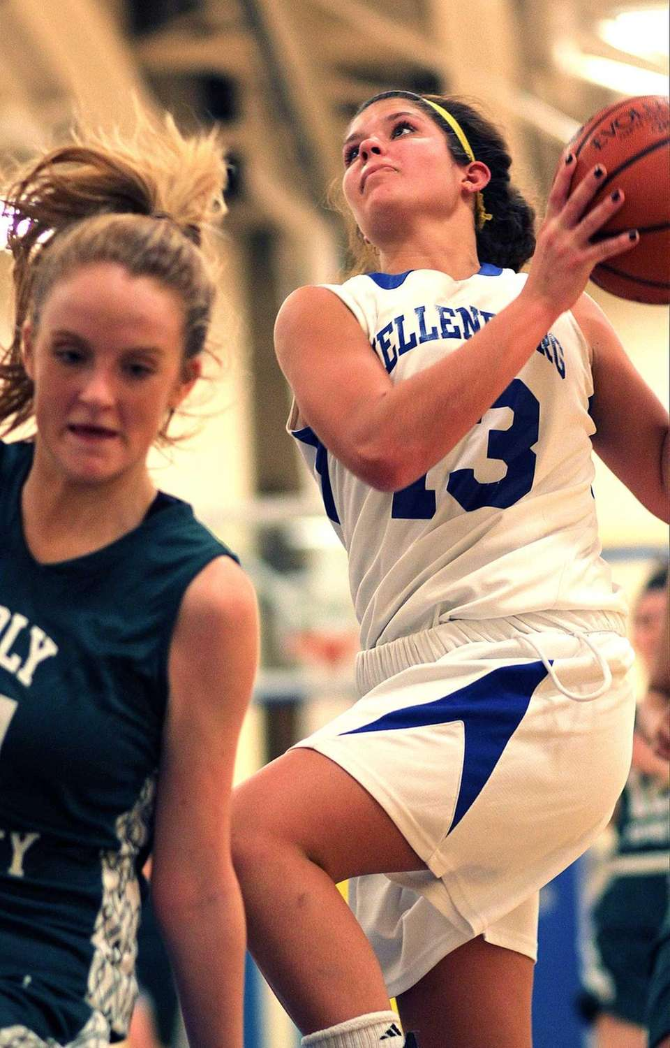 Kellenberg's Kaitlyn Stackpole goes for a layup in