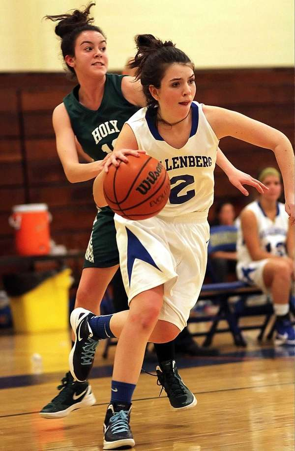Kellenberg's Brenna Dennelly gets by Trinity's Theresa LoCascio