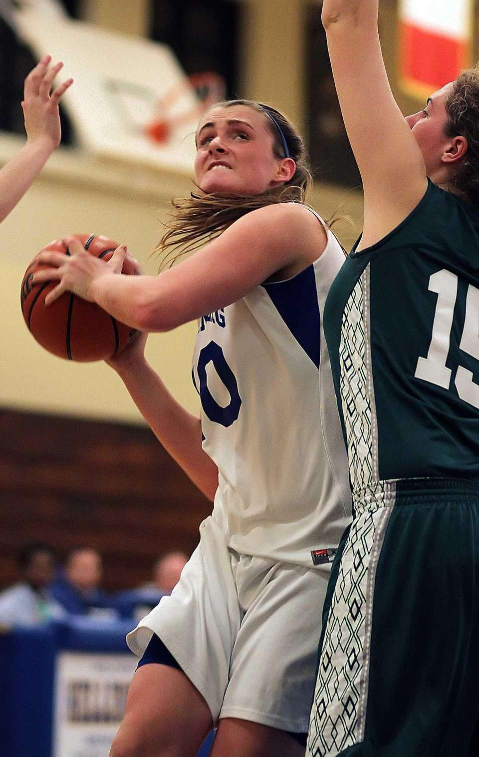 Kellenberg's Candace Belvedere goes for a layup against