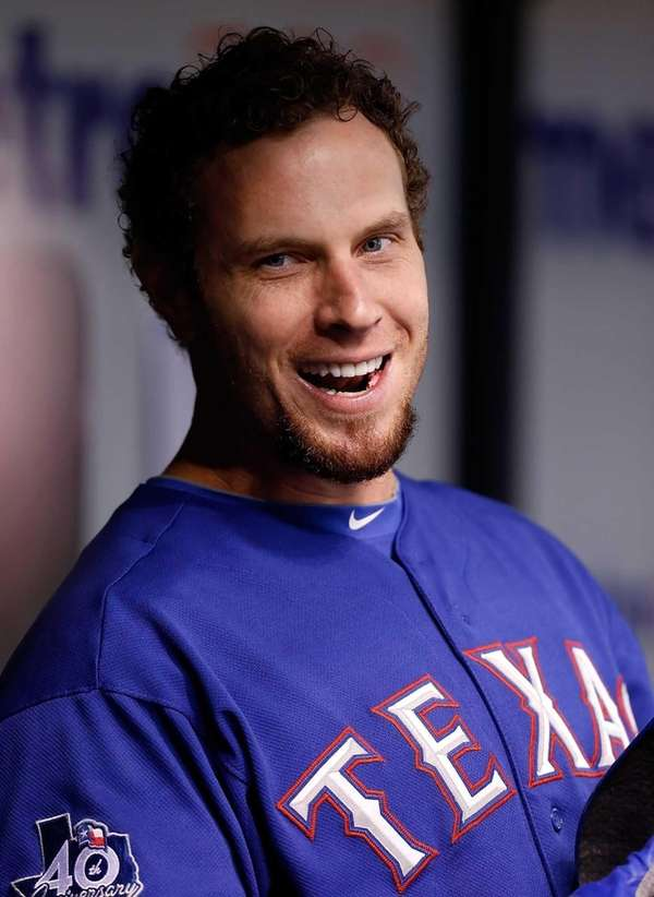 Texas Rangers outfielder Josh Hamilton smiles in the
