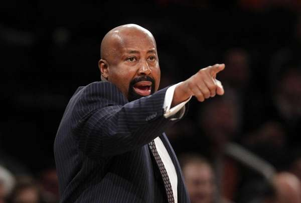 Mike Woodson calls out to his team in