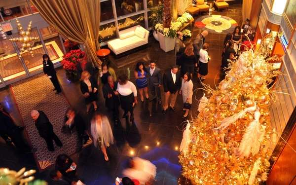 Partygoers enter Chateau Briand in Carle Place for