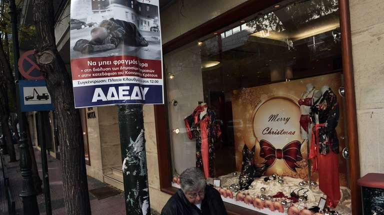 By a Christmas window in Athens, a union