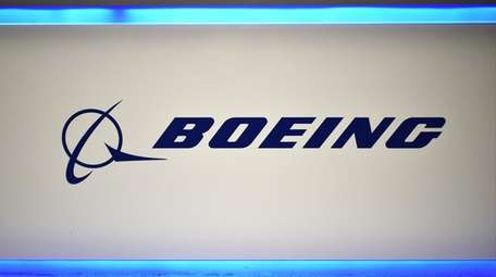 The Boeing logo is seen on Oct. 22,