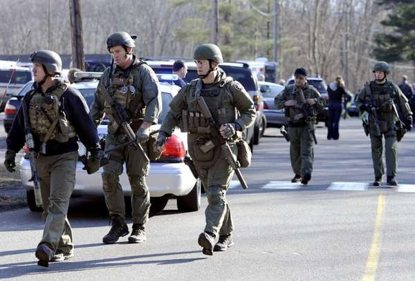 Connecticut State Police respond to a shooting at