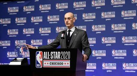 NBA Commissioner Adam Silver unveils the NBA All-Star