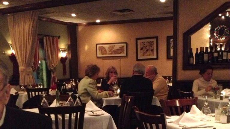Dining room of La Bussola in Glen Cove.