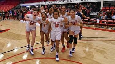 Kaela Hilaire and the Stony Brook women's basketball