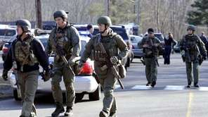 Connecticut State Police respond to the mass shooting
