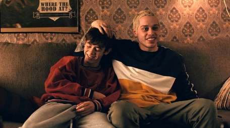 Griffin Gluck (left) and Pete Davidson in Hulu's