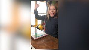 Skylar Kane, 10, of Massapequa, plans for her