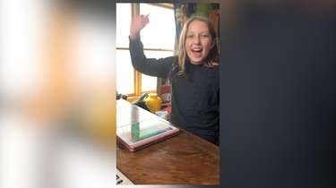Skylar Kane, 10, of Massapequa, plans for her