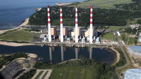 The LIPA Power Plant in Northport on July
