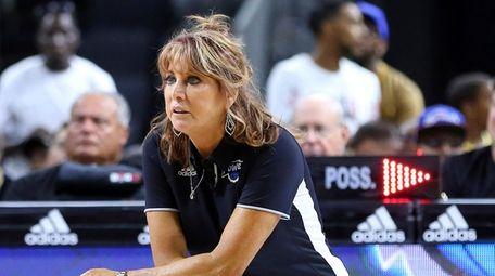 Nancy Lieberman, head coach of Power, looks on