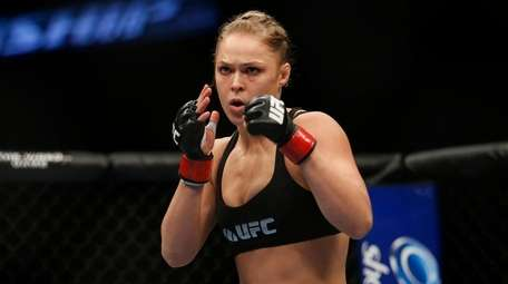 Ronda Rousey readies for the first female MMA