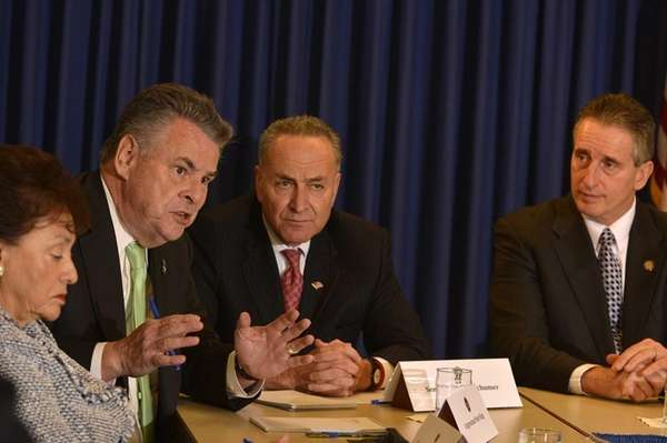 From left, Rep. Nita Lowey, Rep. Peter King,