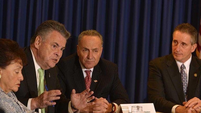 From left, Rep. Nita Lowey, Rep. Peter King,