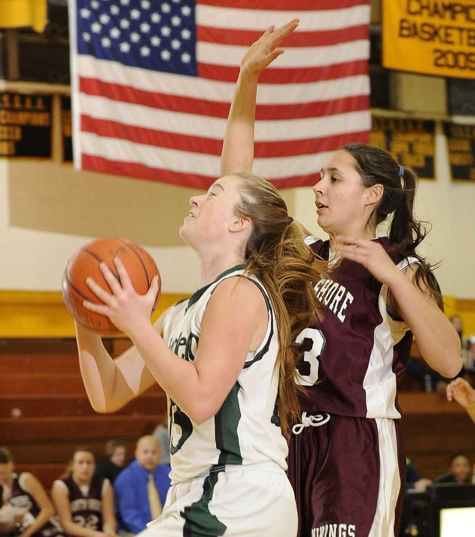Harborfields' Amy Werbitsky shoots ahead of a North