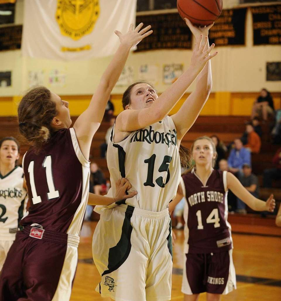 Harborfields' Kristen Kelly takes a shot as North