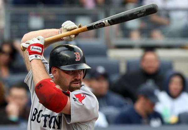 Kevin Youkilis bats during a game against the