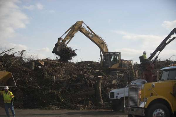 Nassau County receives tree debris that resulted from