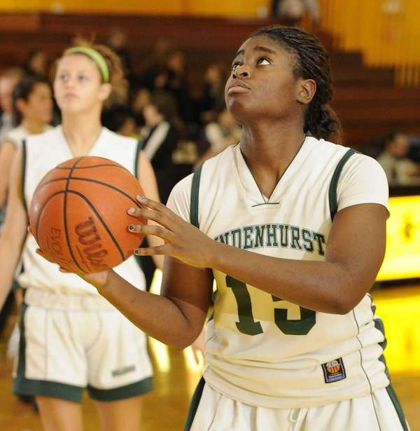 Lindenhurst's Valerie Oyakhilome looks to shoot during a