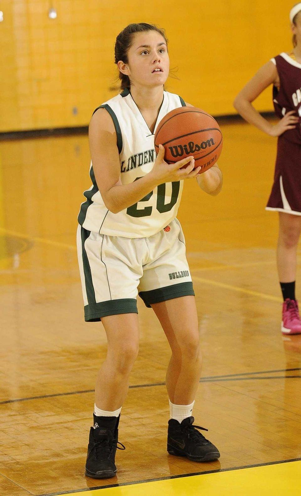Lindenhurst's Ariana Irizarry shoots a free throw during