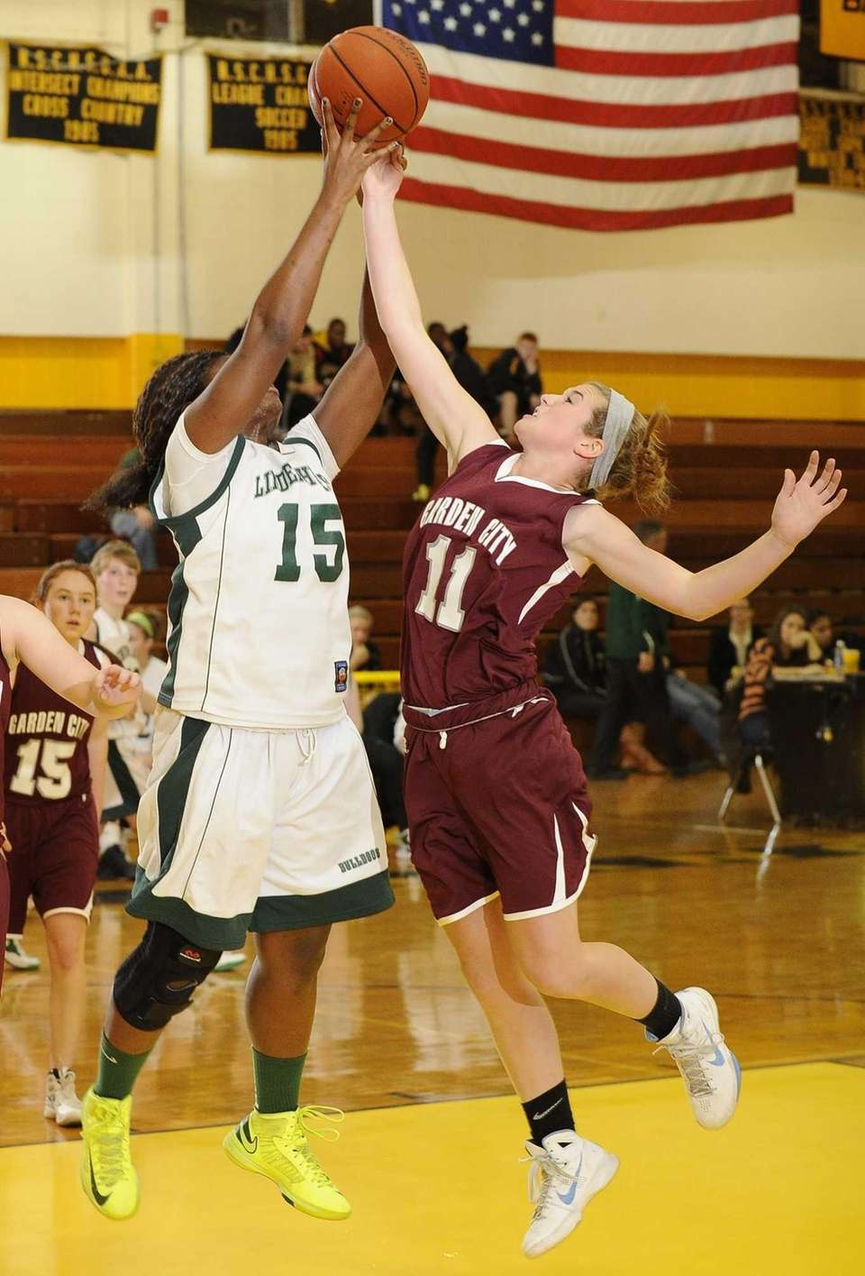 Lindenhurst's Valerie Oyakhilome and Garden City's Kerry Defliese