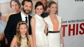 Judd Apatow, with his family, who appear in