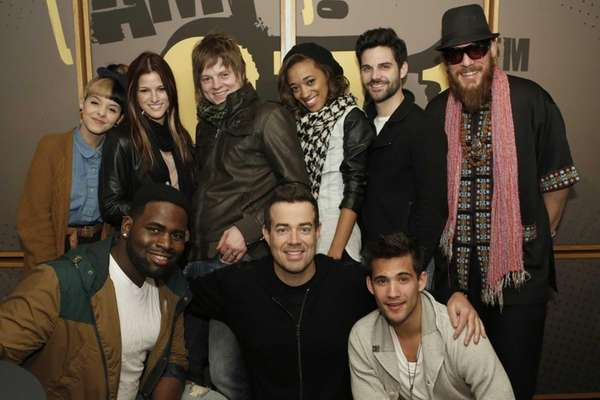 "Contestants from NBC's ""The Voice"" (pictured: l-r from"