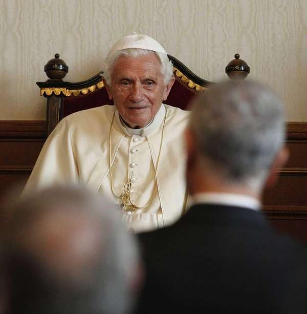 Pope Benedict XVI in this file photo.