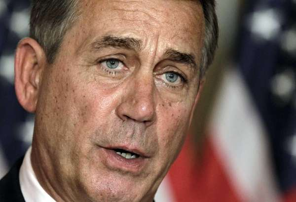 House Speaker John Boehner (R-Ohio) speaks at a